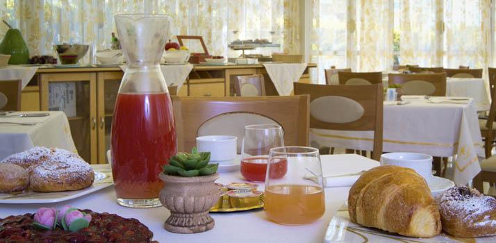 Dettaglio della colazione presso l'Hotel