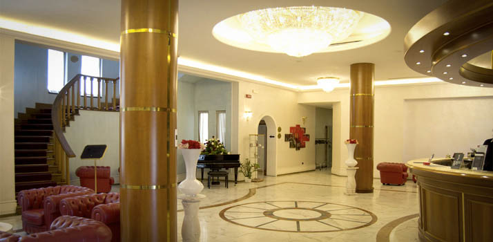 The reception of the 4 star hotel near Naples